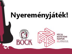 Nyereményjáték Bock Pécsi Egyetemi Napok